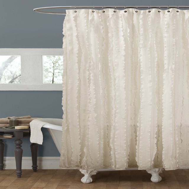 decor modern chic shower curtain ivory contemporary shower curtains