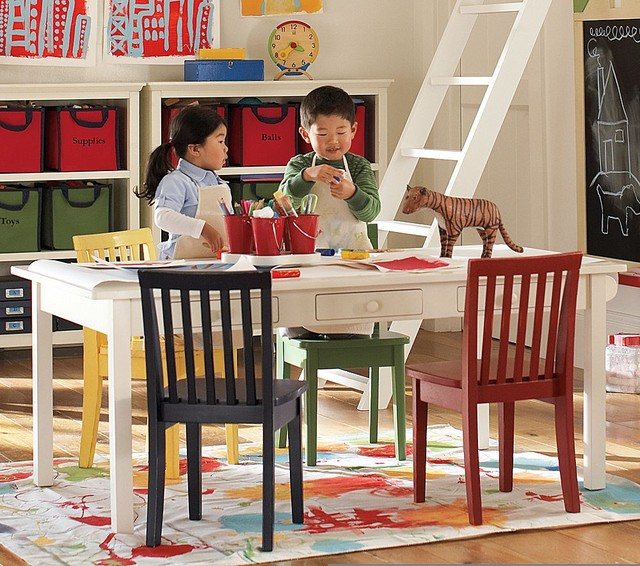 Carolina Craft Table Traditional Kids Tables And