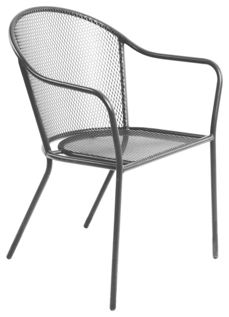 Coburg Metal Armchair Contemporary Outdoor Dining Chairs other metro
