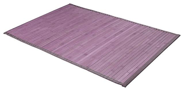 Tapis de bain bambou parme 50 x 80cm exotique tapis de for Tapis de bain en bois de bambou