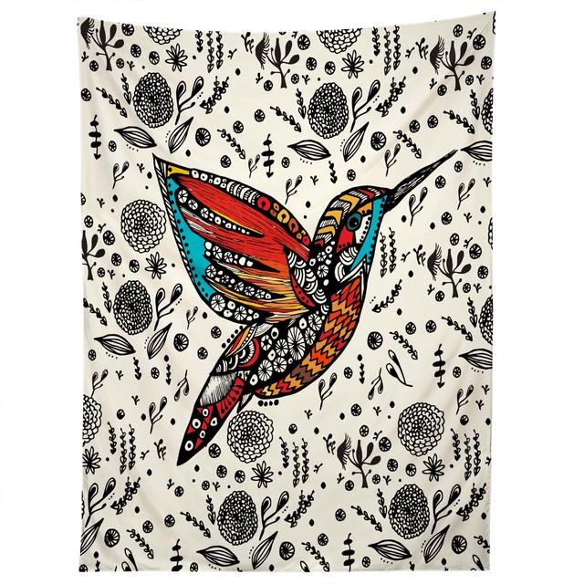 deny designs julia da rocha humming bird in paradise tapestry modern wandteppiche. Black Bedroom Furniture Sets. Home Design Ideas