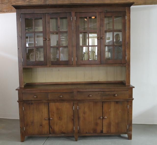 Reclaimed Wood Hutch in Antique Walnut