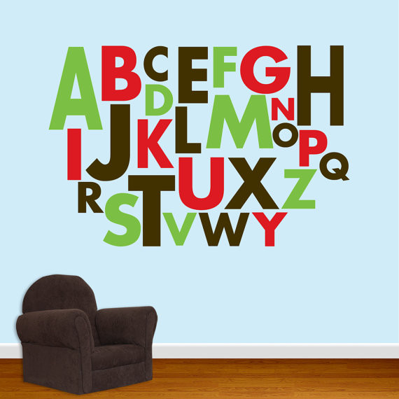 Alphabet wall decal by designed beginnings traditional for Alphabet wall mural