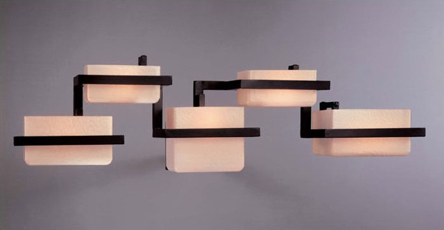 Bathroom Vanity Lights Kovacs : Minka George Kovacs P375-615B - Five Light Bronze Wall Light - Asian - Bathroom Vanity Lighting ...