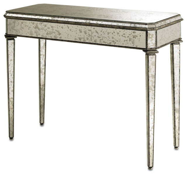 Antiqued Mirror Console Table Antique Mirror Transitional Coffee Tables By Bliss Home