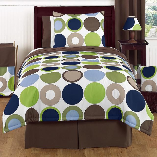 Modern Bedroom Comforters: Sweet Jojo Designs Boys 'Dot Modern' 4-piece Twin