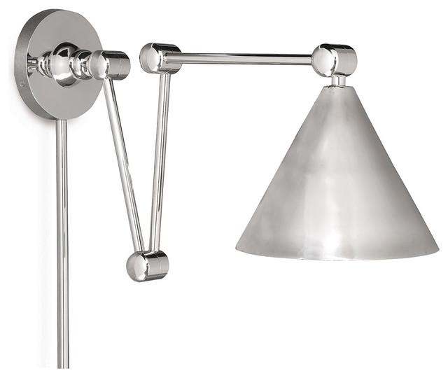 Modern Adjustable Wall Lights : Bracher Industrial Loft Modern Silver Adjustable Sconce industrial-wall-lighting