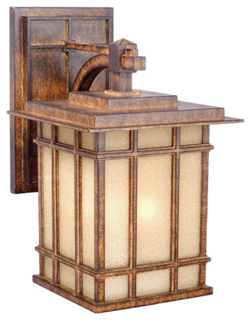 Vaxcel MH OWD090AW Manor House 9 Outdoor Wall Light Aged Walnut Transit