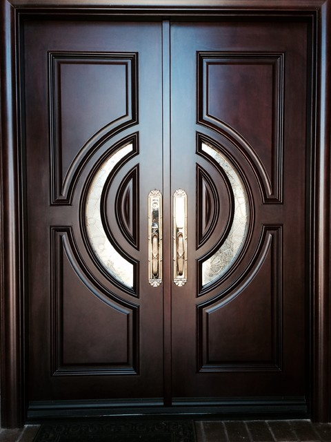 Mahogany Entry Door 72 X80 X3 Traditional Front Doors By Global Entry Doors