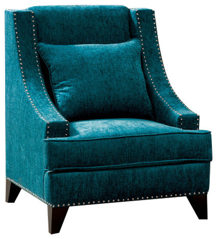 Tufted Leather Wingback Chair All Products / Living / Chairs / Armchairs & Accent Chairs