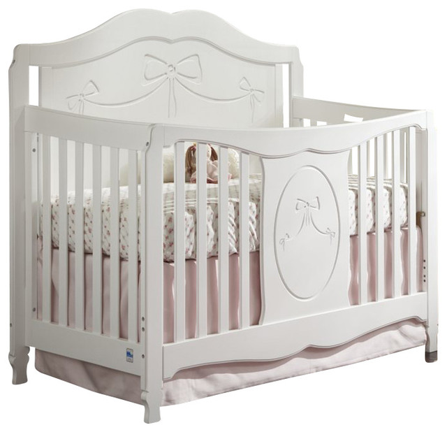 storkcraft princess fixed side convertible crib in white transitional cribs by cymax. Black Bedroom Furniture Sets. Home Design Ideas