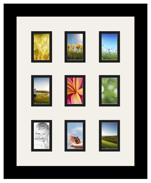 Arttoframes collage photo frame with 9 2x3 openings and for Modern collage frame