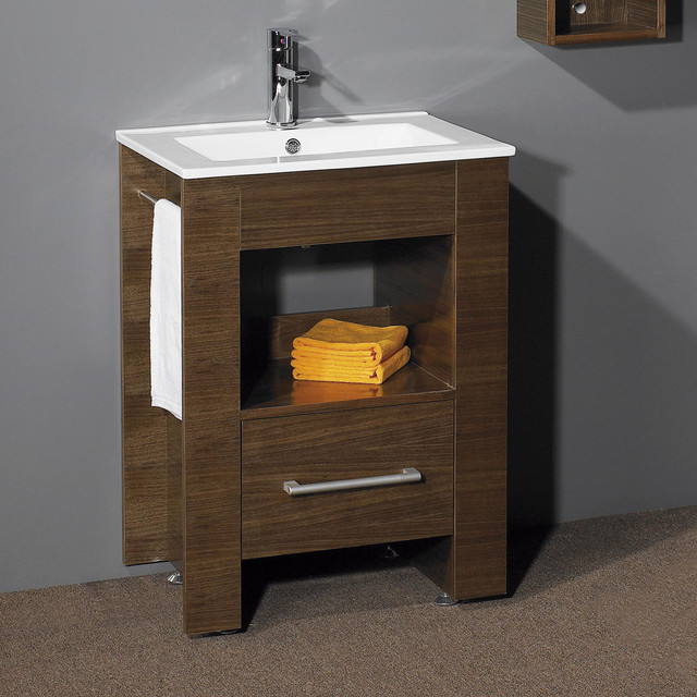24 warbeck console vanity walnut modern bathroom Bathroom vanity storage organization
