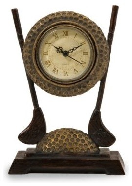 Golf Club Desk Clock Traditional Desk And Mantel