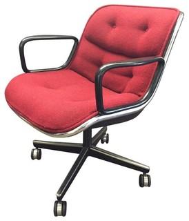 red wool knoll pollock chair chaise de bureau. Black Bedroom Furniture Sets. Home Design Ideas