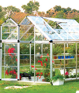 Snap N' Grow Greenhouse 6' x 8' - Traditional ...