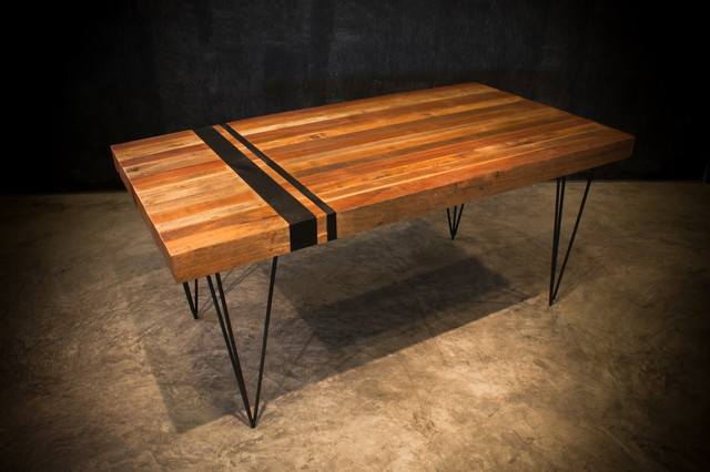 Industrial Dining Table Handcrafted From Reclaimed Wood