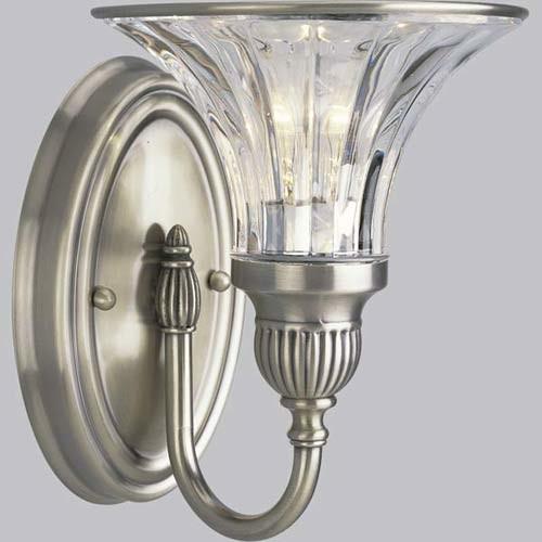 Houzz Bathroom Lighting Fixtures: P2724-101: Roxbury Classic Silver One-Light Bath Fixture