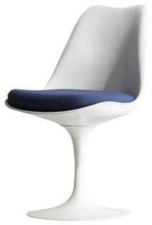 Tulip side chair in boucle royal blue by rove concepts for Modern dining chairs vancouver