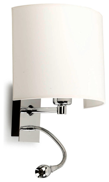 Wall Sconce With Led Reading Light : A-46 Basic Wall with LED Reading Light - Modern - Wall Sconces