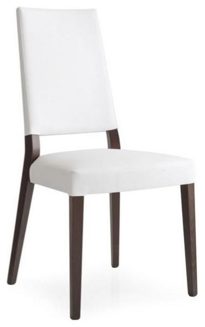 Chaise sandy de calligaris weng assise simili cuir blanc for Hauteur d une chaise de salle a manger