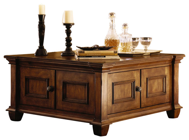 Kincaid Tuscano Solid Wood Square Cocktail Table Traditional Coffee Tables By Bedroom