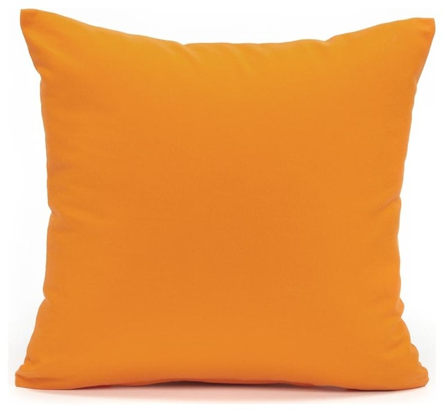 Solid Orange Accent, Throw Pillow Cover - Modern - Decorative Pillows - by Silver Fern Decor