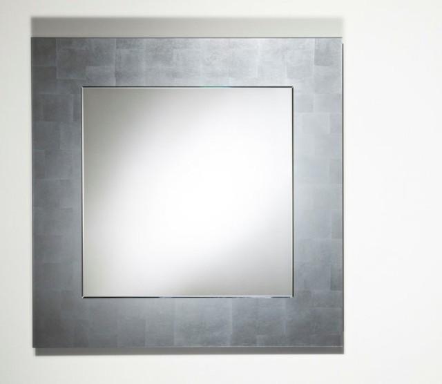 miroir contemporain argent
