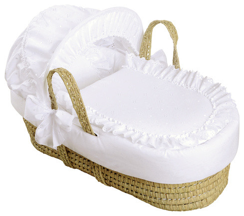 Broderie Anglaise Moses Basket - Modern - Moses Baskets ...