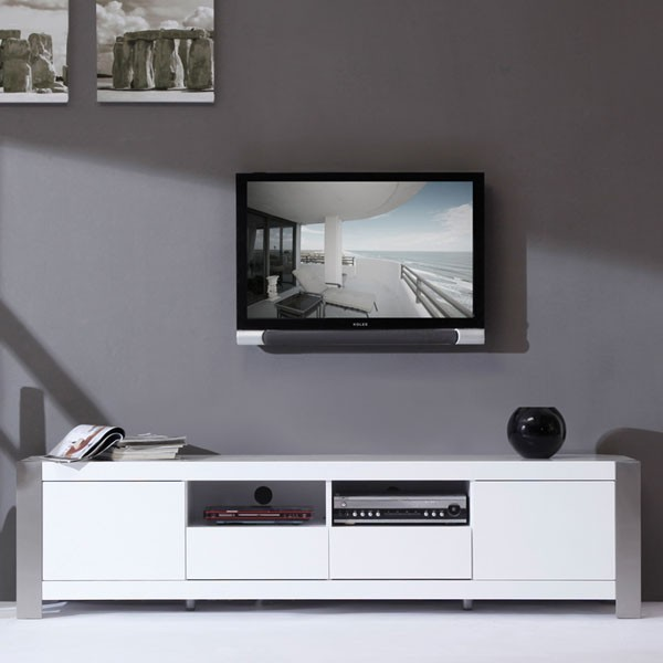 "B-Modern - Composer 79"" High-Gloss White TV Stand - BM-100-WHT - Contemporary - Entertainment ..."