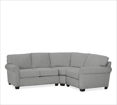 Buchanan Left 3 Piece Small Sectional With Corner Wedge