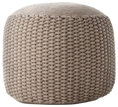Neutral Rope Pouf, Small - Contemporary - Floor Pillows And Poufs - by Target