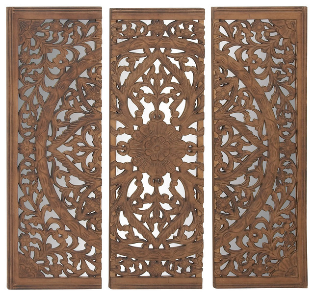 Wall Panels For Decor : Astounding wood mirror wall panel set of quot w h