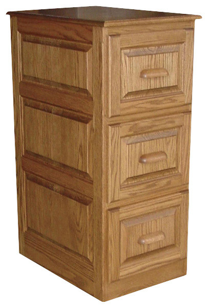 ... Bergen 3-Drawer File Cabinet in Red Oak traditional-filing-cabinets