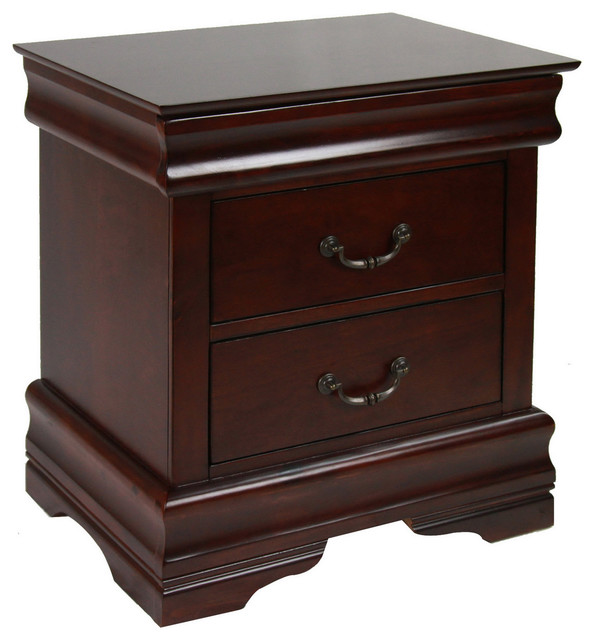 Furniture of america mayday hills night stand for Modern bedside tables nightstands