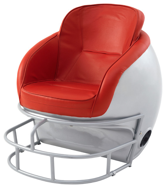 NCAA Ohio State University Football Helmet Leather Lounge Chair Contemporar