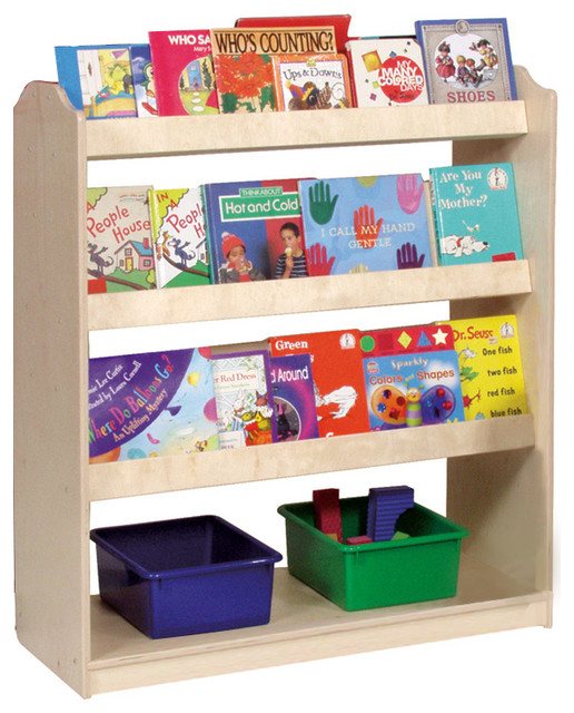 Steffywood Double-Sided Mobile Book Storage Display Toy Organizer ...