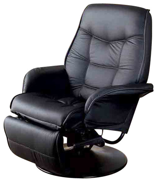 Contemporary Berri Swivel Recliner With Flared Arms