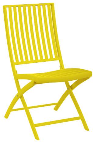 blanche chaise pliante d 39 ext rieur moderne chaise pliante de jardin par habitat officiel. Black Bedroom Furniture Sets. Home Design Ideas