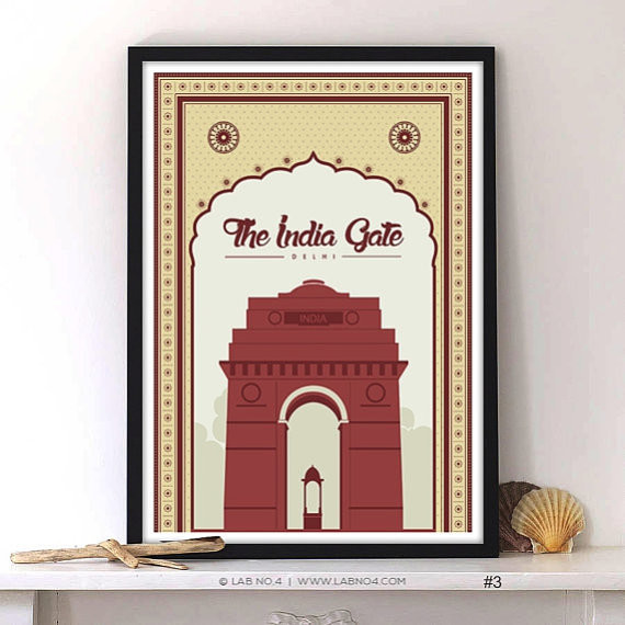India gate delhi modern prints and posters for Modern home decor items india