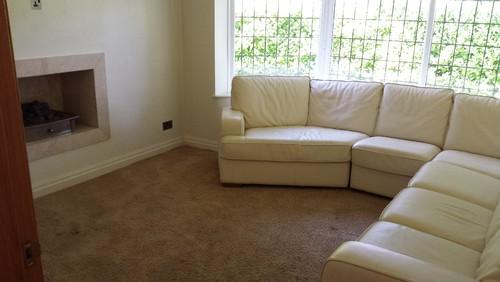 Cream Sofa Grey Carpet