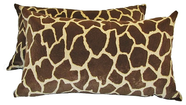 Giraffe Decorative Pillow : Giraffe Print Pillow
