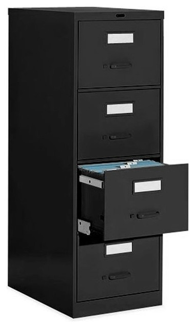 Global Office 4 Drawer Vertical Metal File Cabinet - Transitional - Filing Cabinets - by Cymax