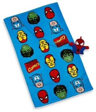 Disney marvel heroes super heroes bath towel and wash mitt set contemporary kids bathroom - Marvel superhero bathroom accessories ...