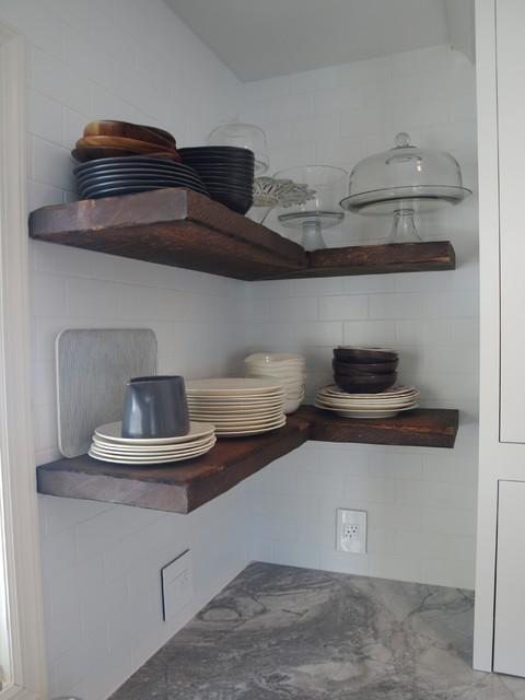 Kitchen Window Treatments Over Sink Farmhouse Shelves