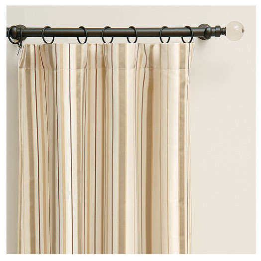 Chambers cream curtain panel 108 x 48 traditional for 108 window treatments