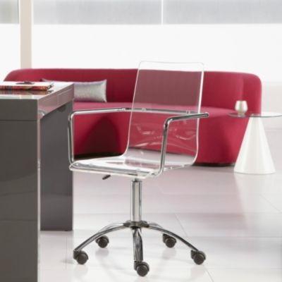 chloe acrylic office chair w casters