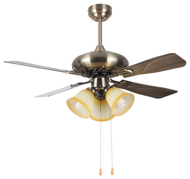 Large Ceiling Fan Light: Antique Bronze Large Ceiling Fans Light