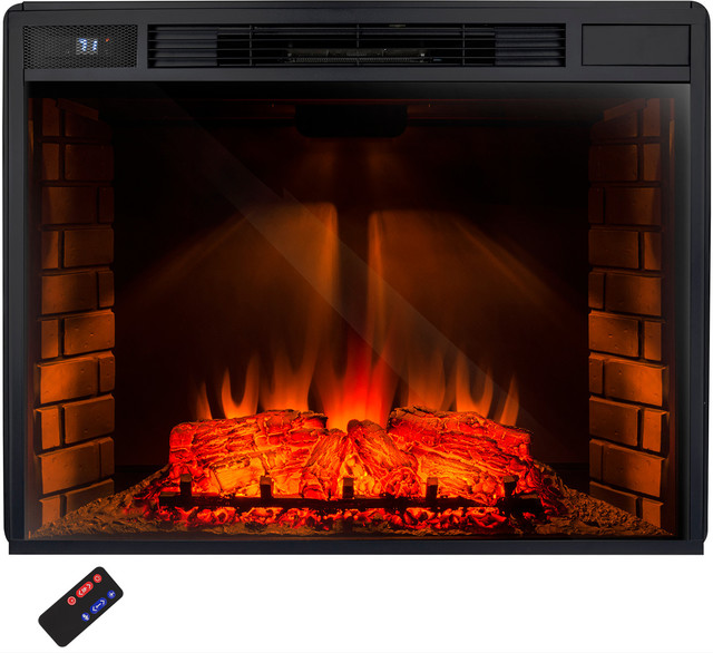 Akdy Electric Fireplace 33 Firebox Heater Freestanding Insert Ak Zef0533r Contemporary