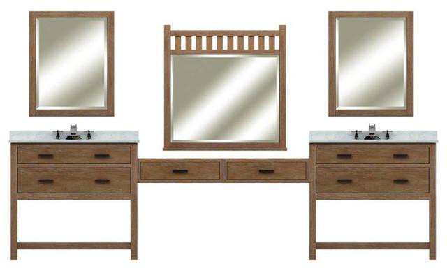 Modular textured wood bathroom vanity sets from sagehill designs traditional bathroom for Modular bathroom vanity pieces